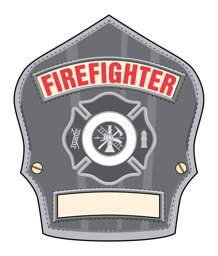 Distintivo del casco del pompiere illustrazione vettoriale