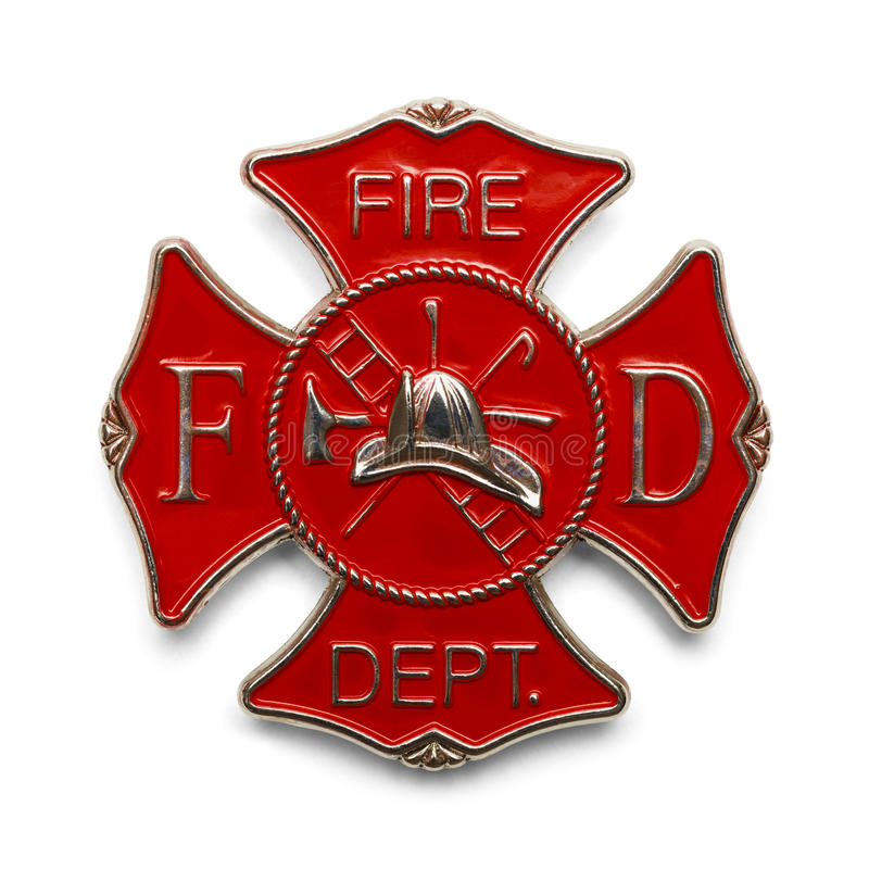 Distintivo del combattente di fuoco fotografia stock libera da diritti