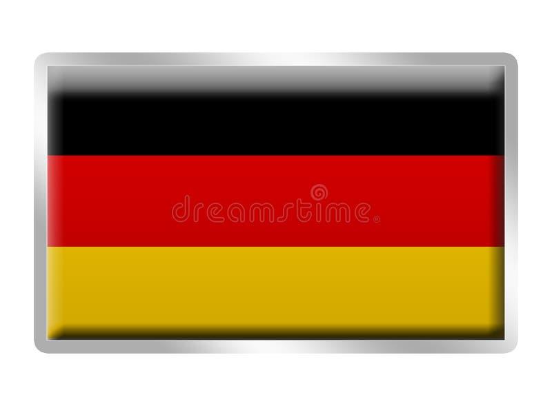 Distintivo del metallo smaltato bandierina tedesca illustrazione di stock