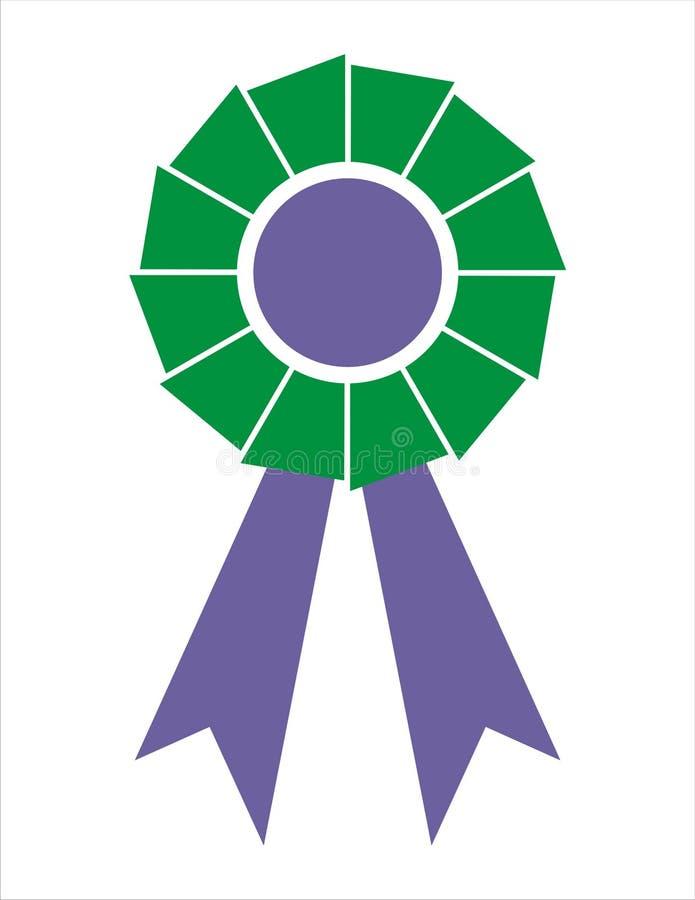 Distintivo del nastro del premio [blu di Green+Electric] immagine stock libera da diritti