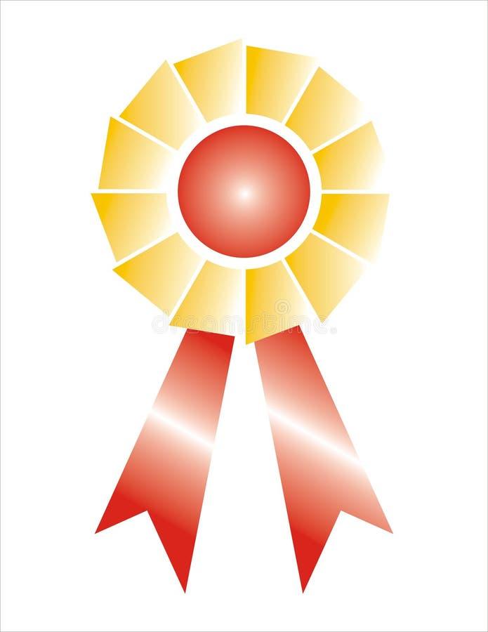 Distintivo del nastro del premio protetto fotografie stock