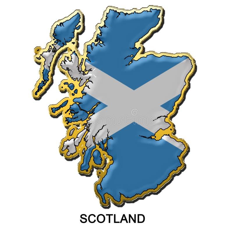 Distintivo del perno di metallo della Scozia illustrazione vettoriale