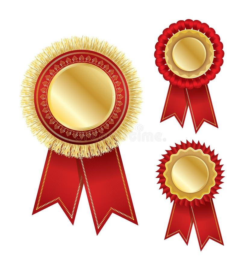 Distintivo del premio di vettore con il nastro royalty illustrazione gratis