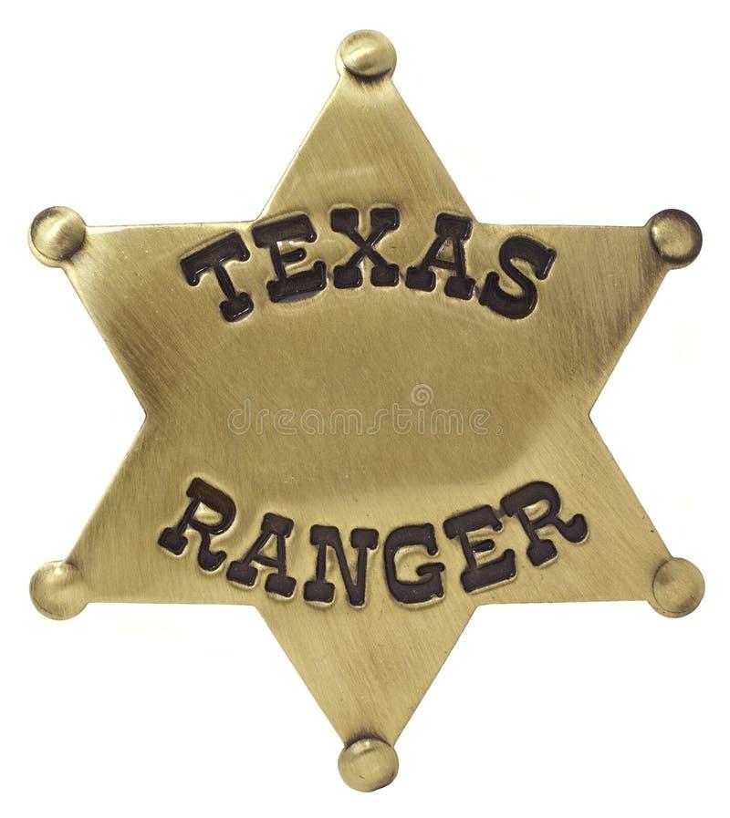 Distintivo del Texas Rangers fotografie stock libere da diritti