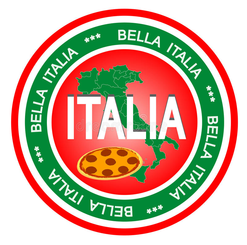 Distintivo dell'Italia royalty illustrazione gratis