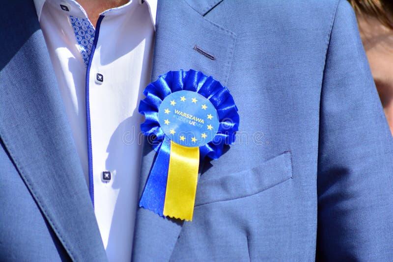Distintivo dell'Unione Europea immagini stock
