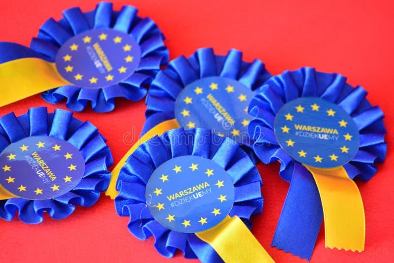 Distintivo dell'Unione Europea fotografia stock libera da diritti