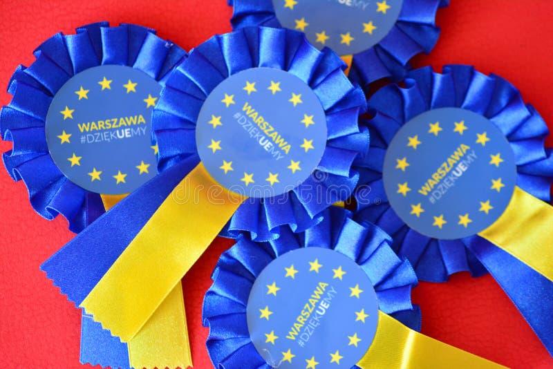 Distintivo dell'Unione Europea immagini stock libere da diritti