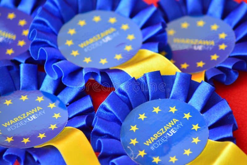 Distintivo dell'Unione Europea immagine stock
