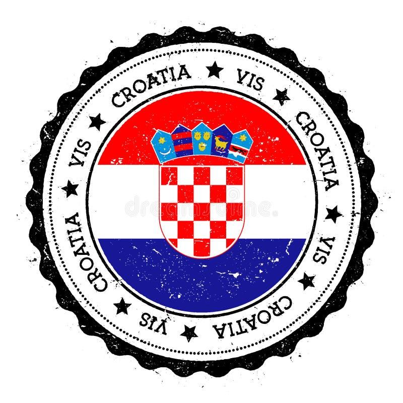 Distintivo della bandiera di forza illustrazione di stock
