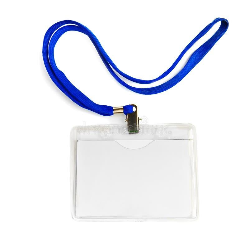 Distintivo della carta con la corda del cavo fotografie stock