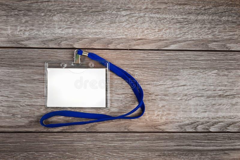 Distintivo della carta di identificazione di nome fotografia stock