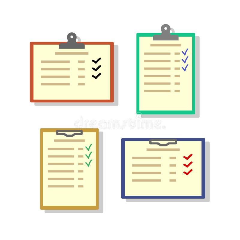 Distintivo della lista di controllo illustrazione di stock