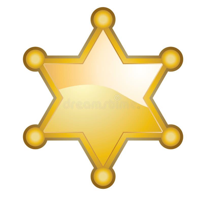 Distintivo dello sceriffo royalty illustrazione gratis