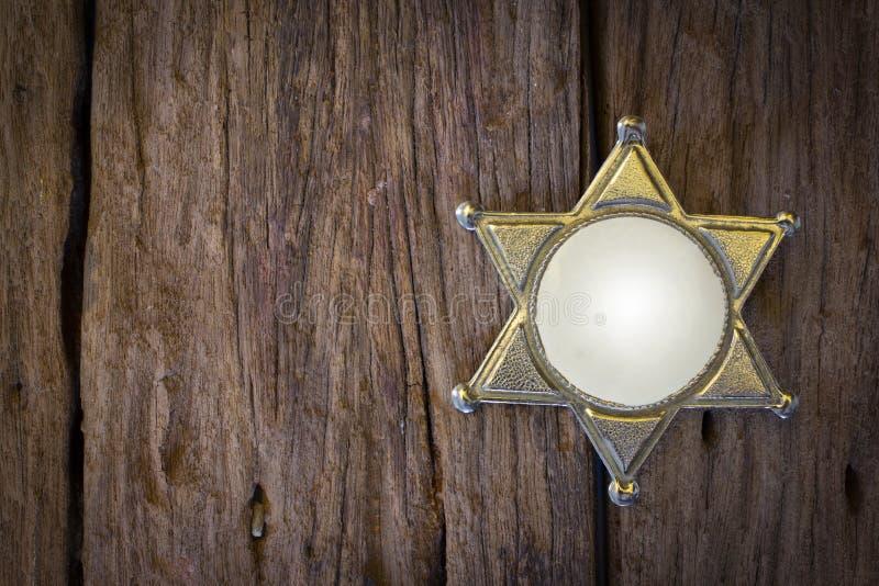 Distintivo dello sceriffo di selvaggi West fotografie stock
