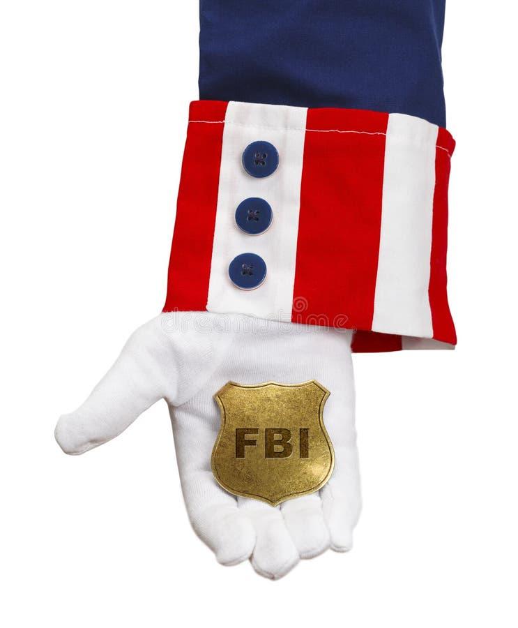 Distintivo di FBI di Unlce Sam immagine stock libera da diritti