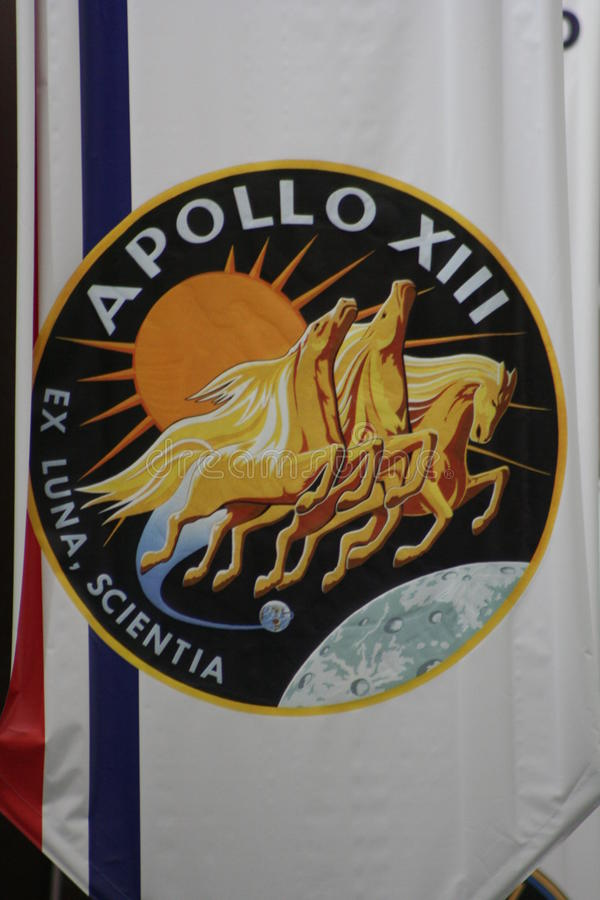 Distintivo di missione dell'Apollo 13 immagini stock libere da diritti
