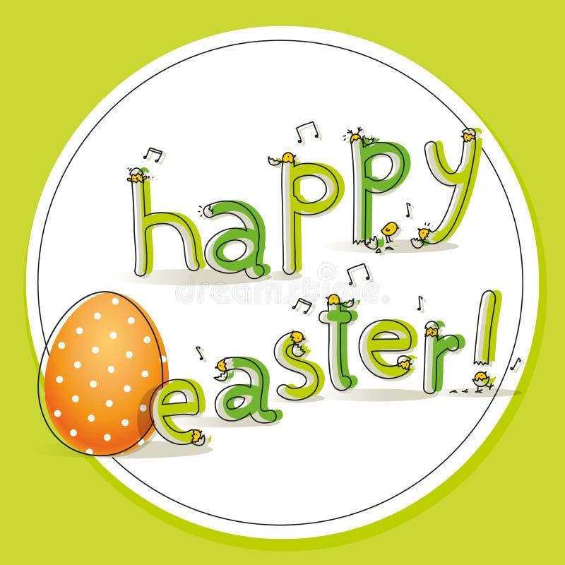 Pasqua scherza il distintivo royalty illustrazione gratis