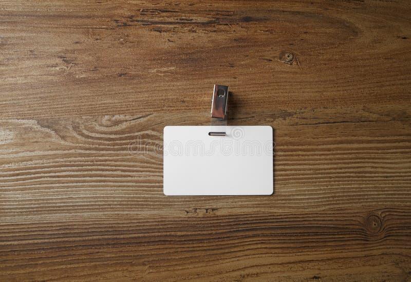 Distintivo di plastica in bianco fotografie stock libere da diritti