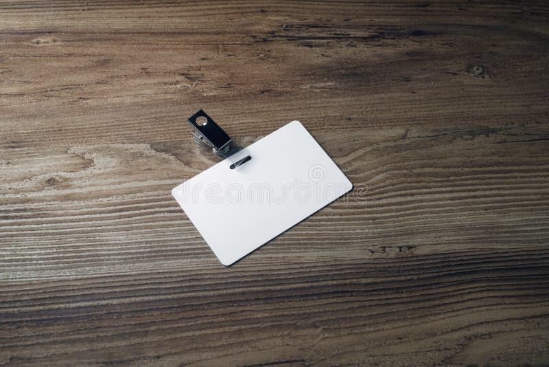 Distintivo di plastica in bianco immagine stock libera da diritti