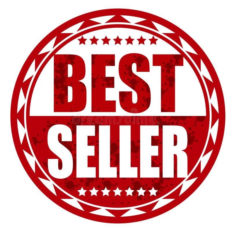 Distintivo di rosso del best-seller immagine stock libera da diritti