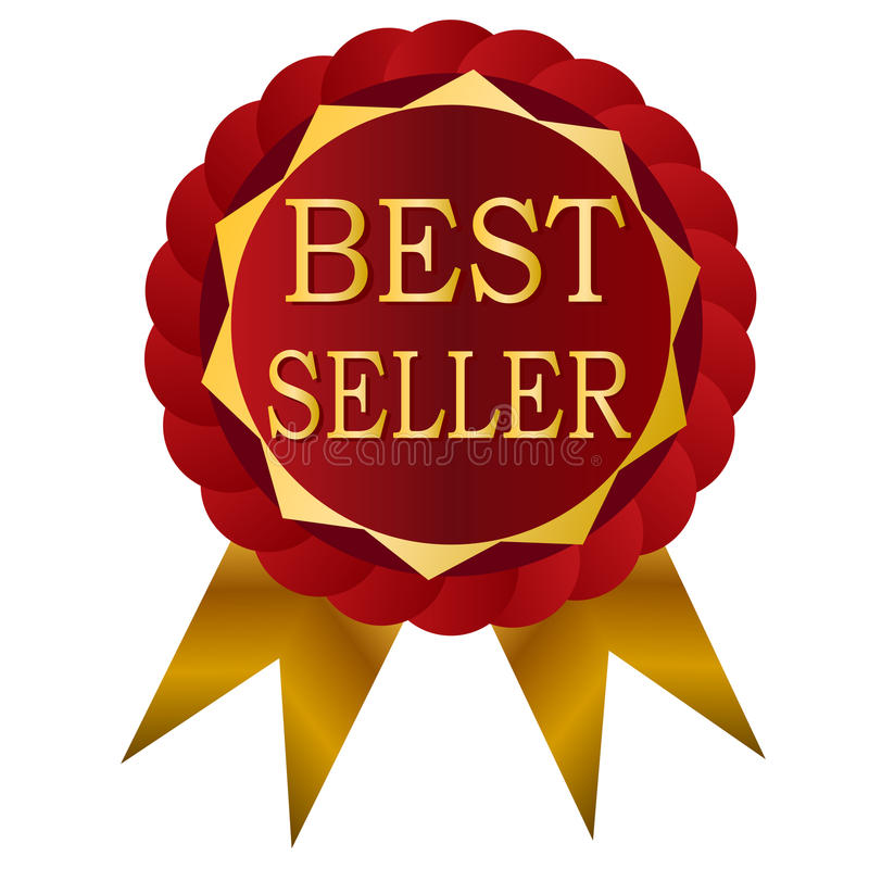 Distintivo di rosso del best-seller royalty illustrazione gratis