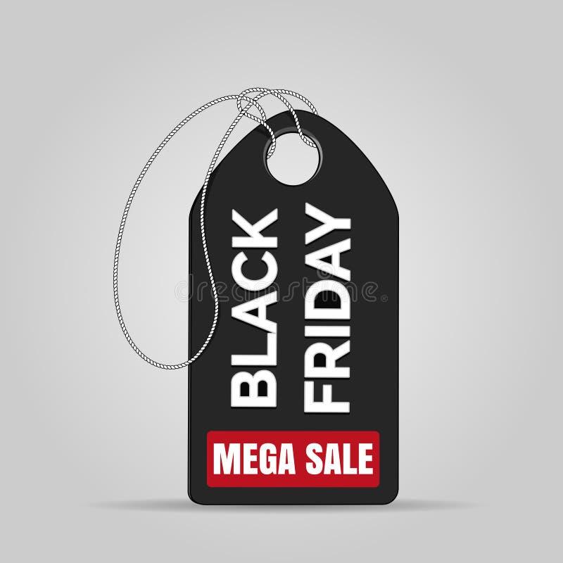 Distintivo di vendita di Black Friday royalty illustrazione gratis