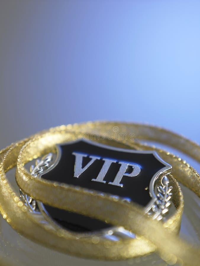 Distintivo di VIP fotografia stock libera da diritti