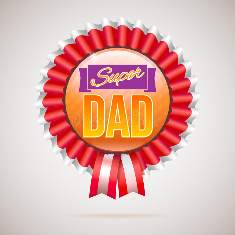 Distintivo eccellente del papà con il nastro illustrazione vettoriale