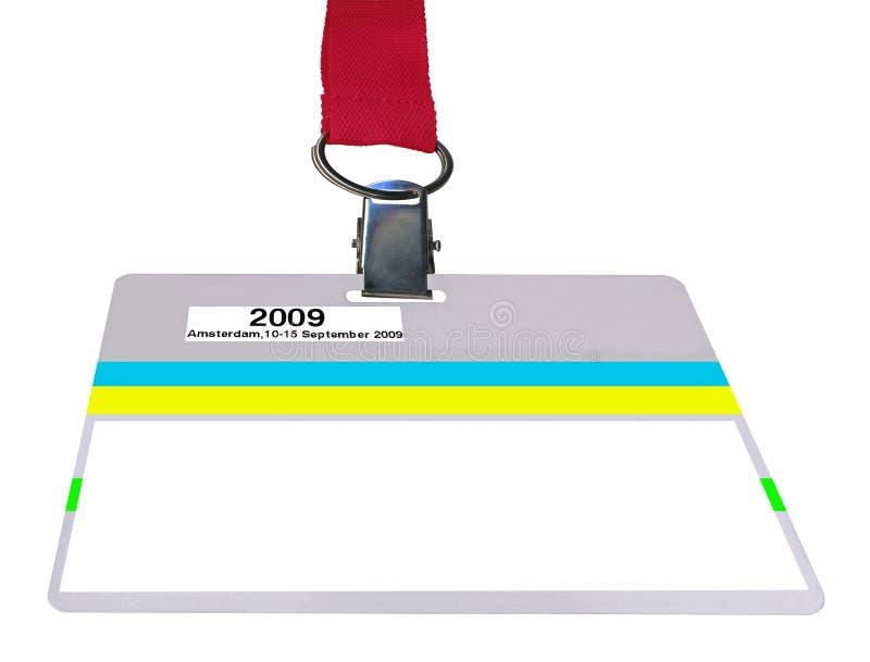 Distintivo isolato (passaggio) di VIP, struttura di plastica, scheda immagini stock
