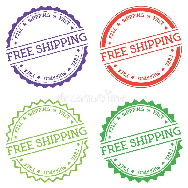 Distintivo libero di trasporto isolato su fondo bianco illustrazione di stock