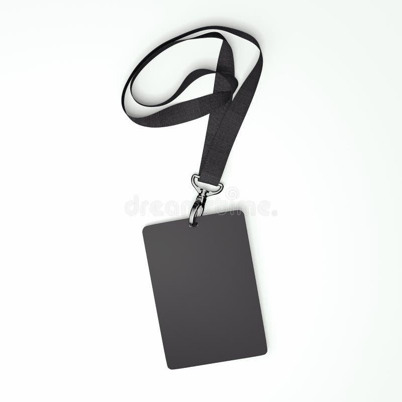 Distintivo nero in bianco con nastro adesivo rappresentazione 3d royalty illustrazione gratis