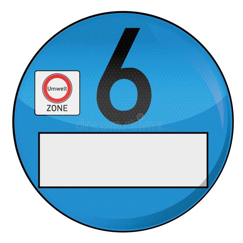 Distintivo numero 6 dell'ambiente royalty illustrazione gratis