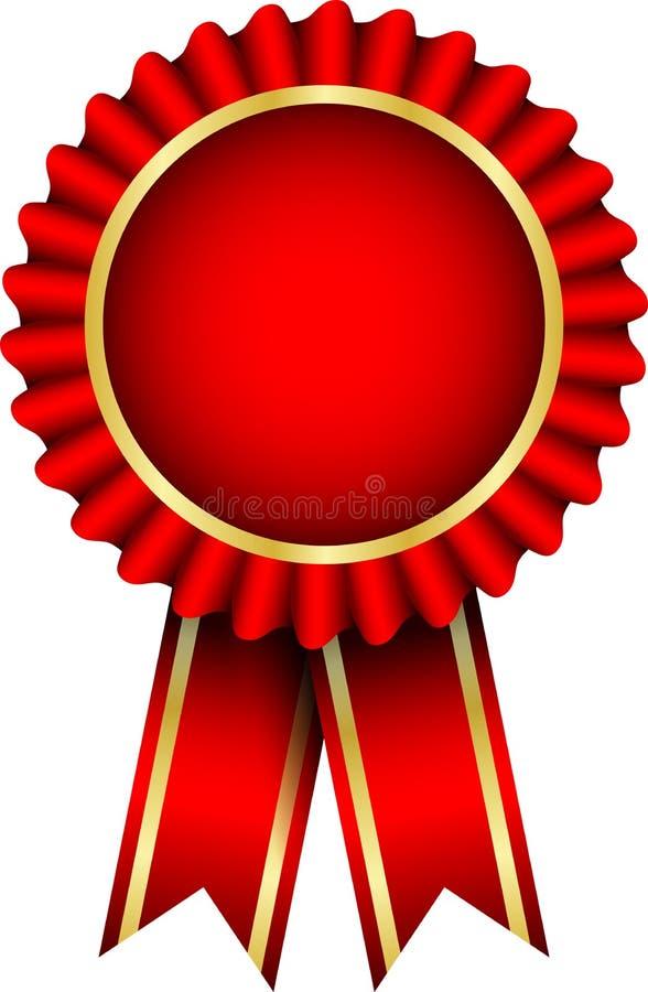 Distintivo rosso illustrazione di stock