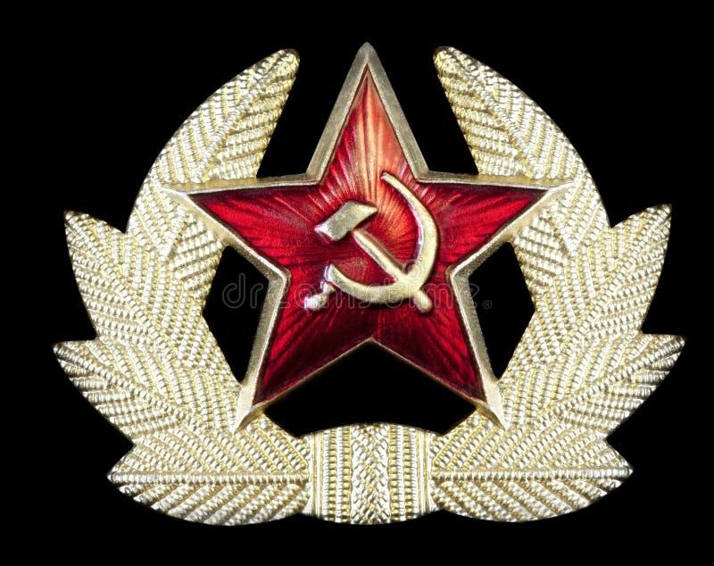 Distintivo russo della falce e del martello immagini stock libere da diritti