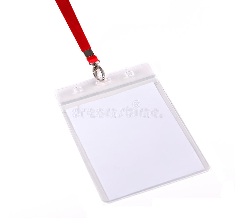 Distintivo/scheda in bianco di identificazione immagine stock libera da diritti