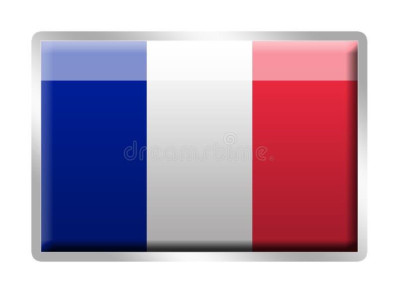 Distintivo smaltato metallo francese della bandierina di Tricolore royalty illustrazione gratis