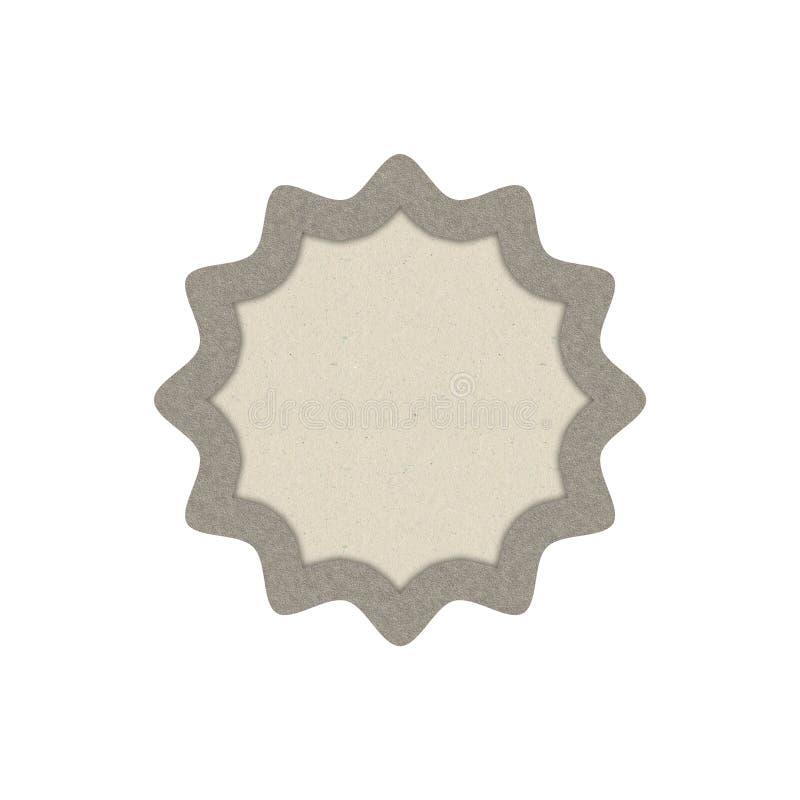 Distintivo strutturato di carta nella forma di sole illustrazione vettoriale