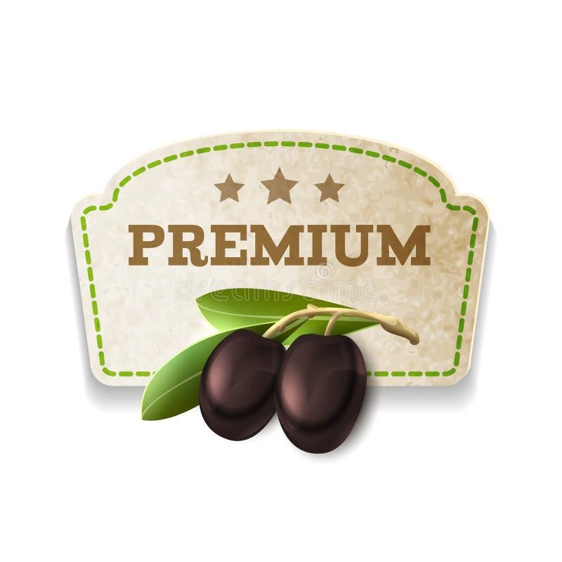 Distintivo verde oliva della cucina royalty illustrazione gratis