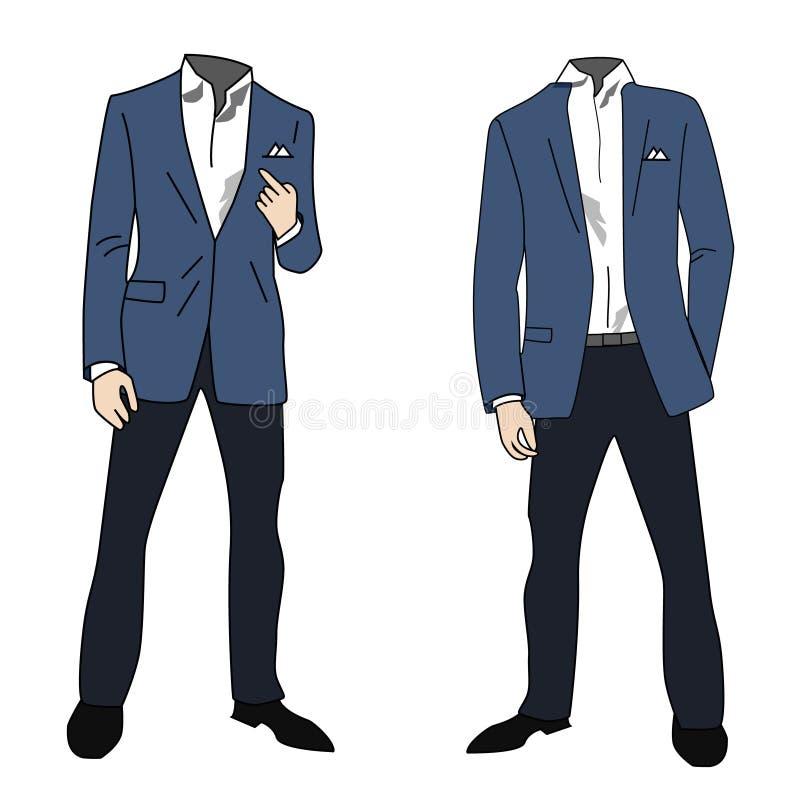 Distinto homem de negócio bem vestido ilustração do vetor