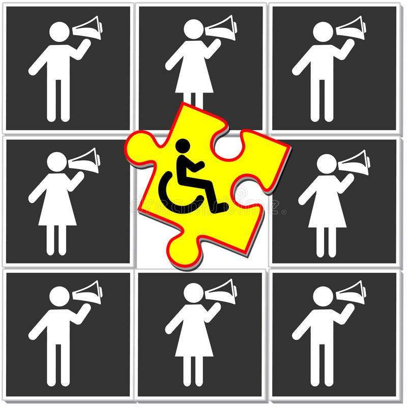 Distinzione delle inabilità royalty illustrazione gratis