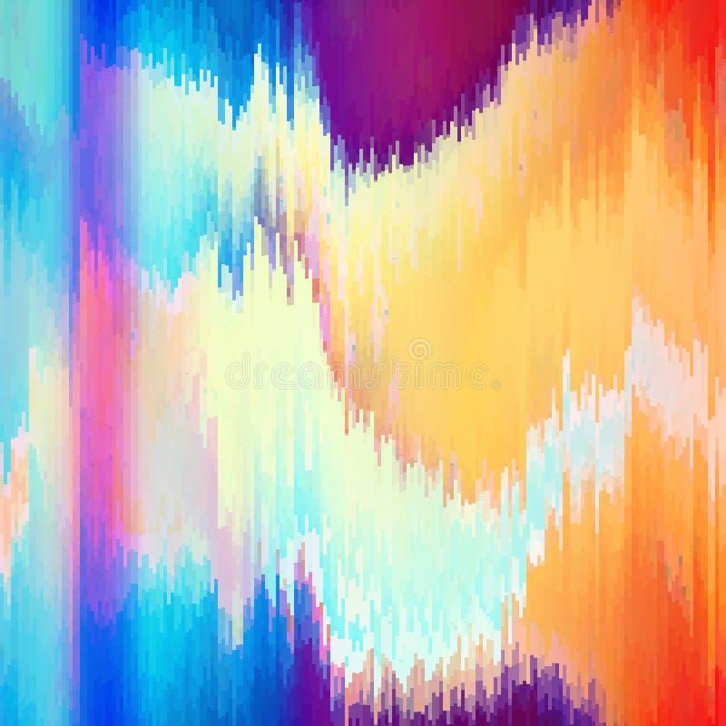 Distorção dos dados de imagem de Digitas Fundo do pulso aleatório do vetor ilustração do vetor