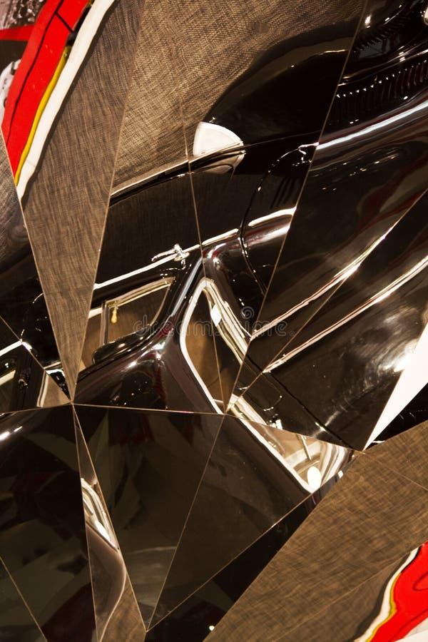 Distorsione astratta in vetro fotografia stock