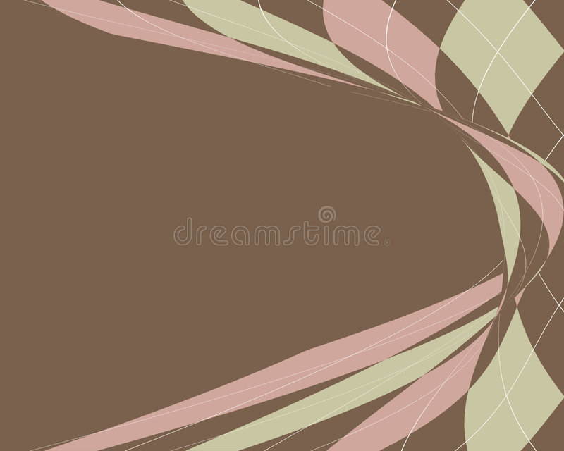 Distorted argyle border vector illustration