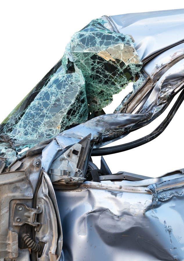 Distorted car glass broken. royalty free stock photos