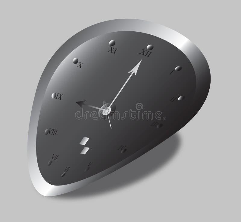 Download Distorted Clock stock illustration. Image of clock, measure - 12912343