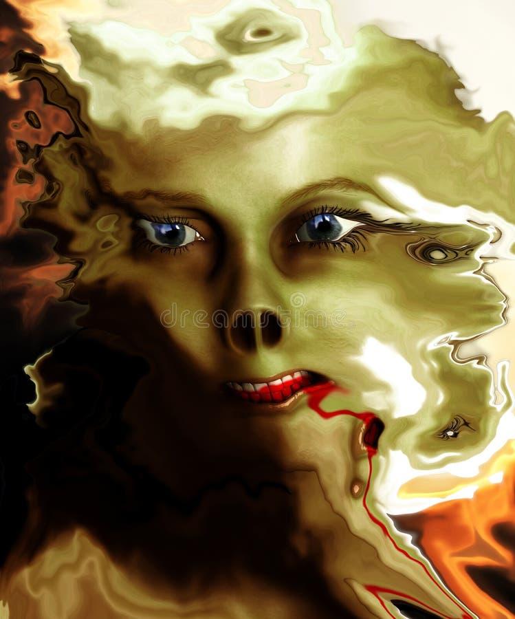 Download Distorted Monster Face stock illustration. Image of expressive - 6828207