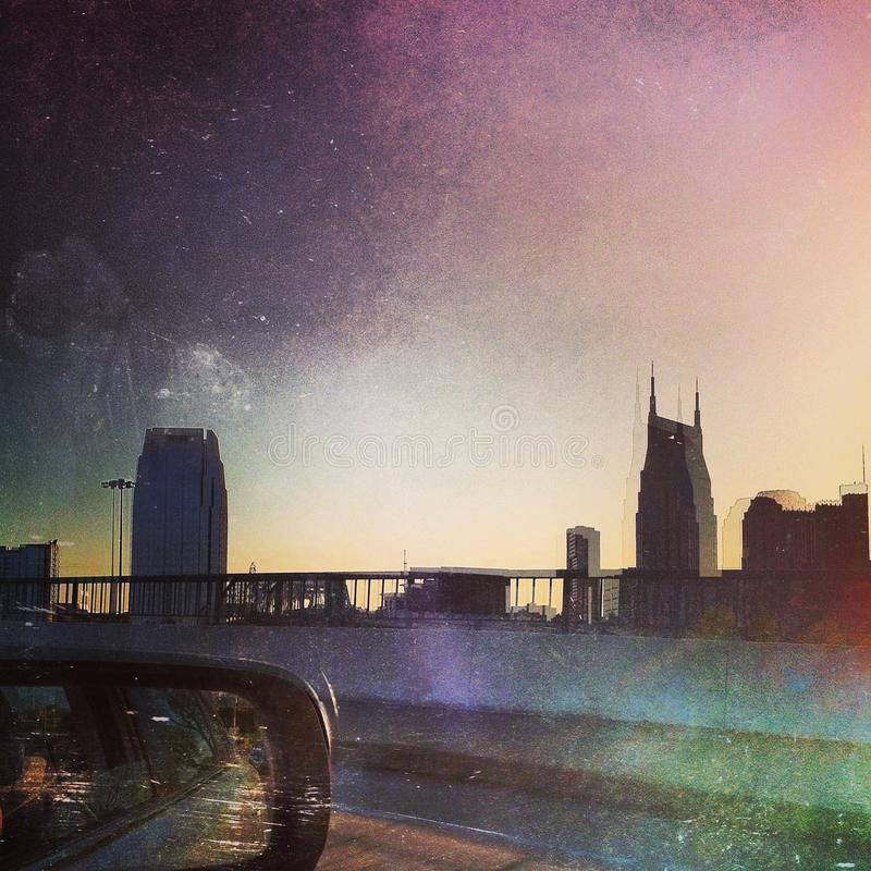 Distorted Nashville stock image