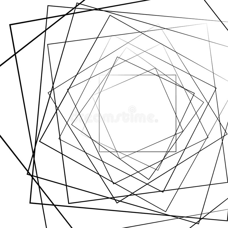 Distorted random radiating lines abstract monochrome pattern. Royalty free vector illustration royalty free illustration