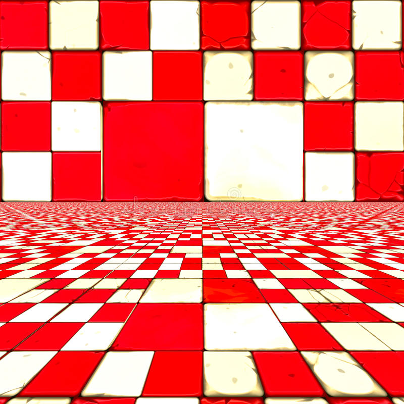 Download Distorted red checkers stock illustration. Image of focus - 34379581